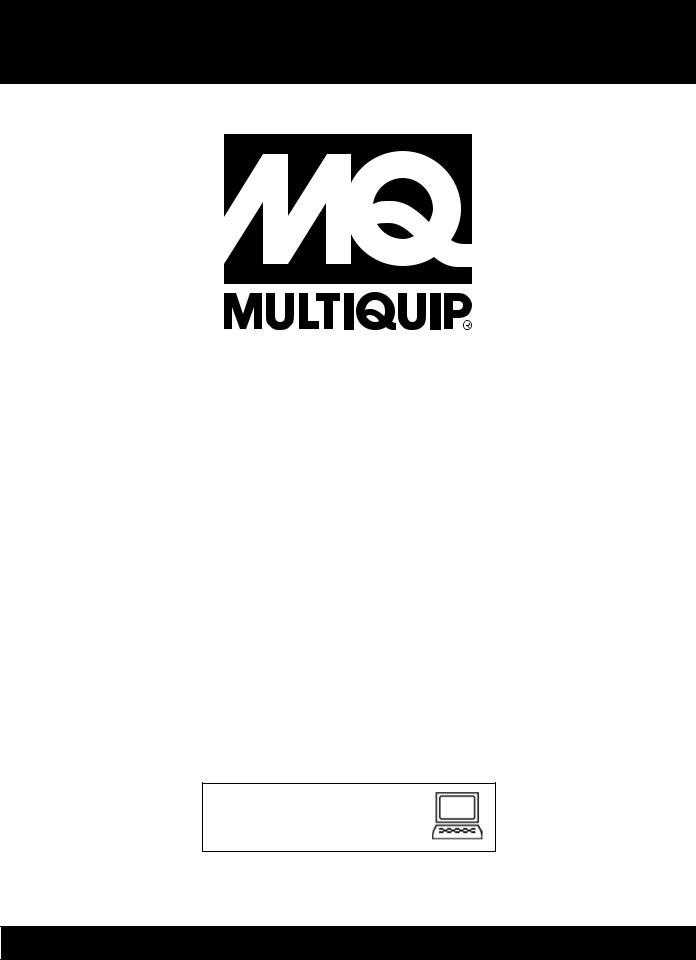 Multiquip DCA300SSCU, Whisperwatt Series 60HZ Generator