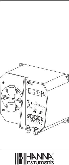Hanna Instruments BL 7916 User Manual