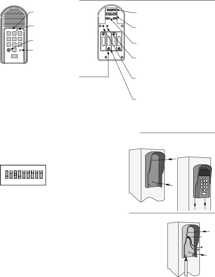 GTO PRO F3100 INTERCOMKEYPAD User Manual