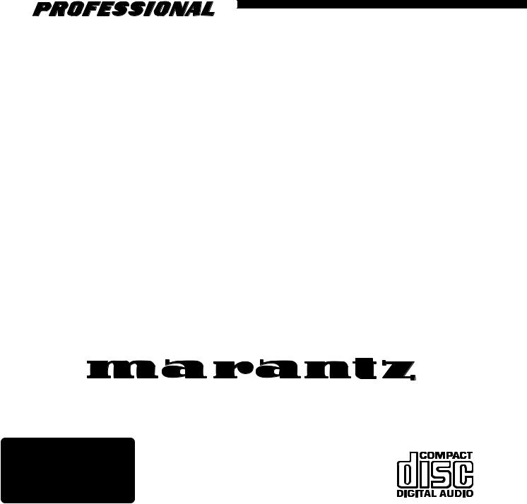 Marantz PMD351 User Manual