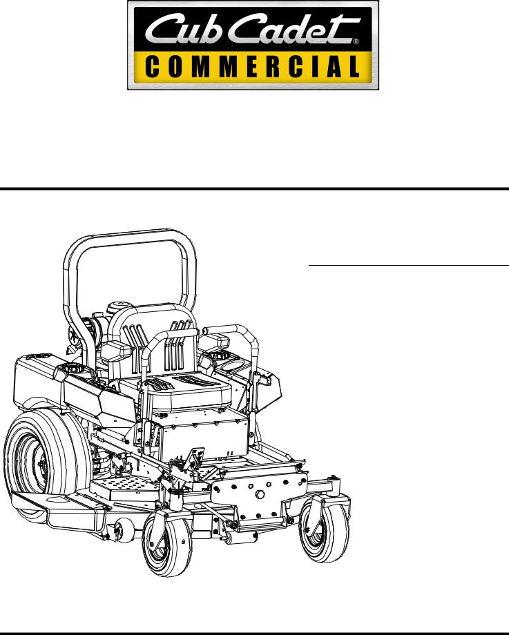 Cub Cadet 53AH8ST3050, 53AH8ST5050 User Manual