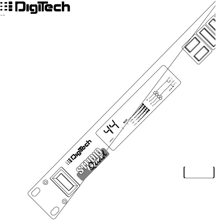 DigiTech STUDIOQUAD User Manual