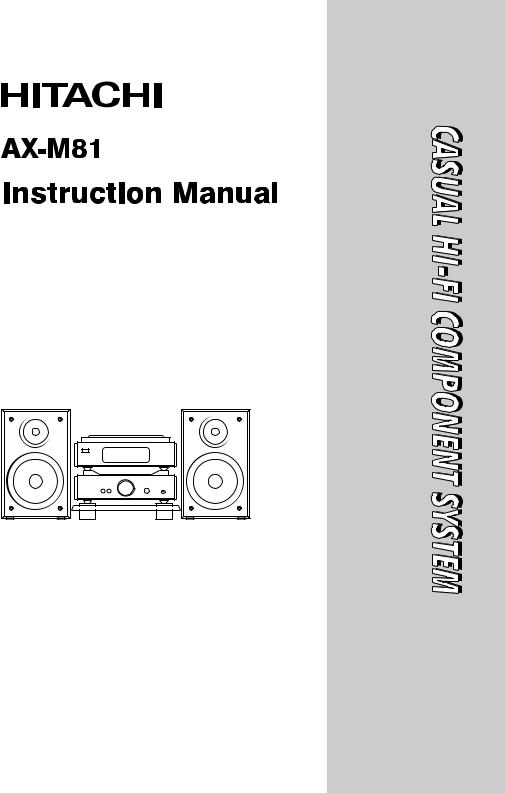 Hitachi AX-M81 Instruction Manual