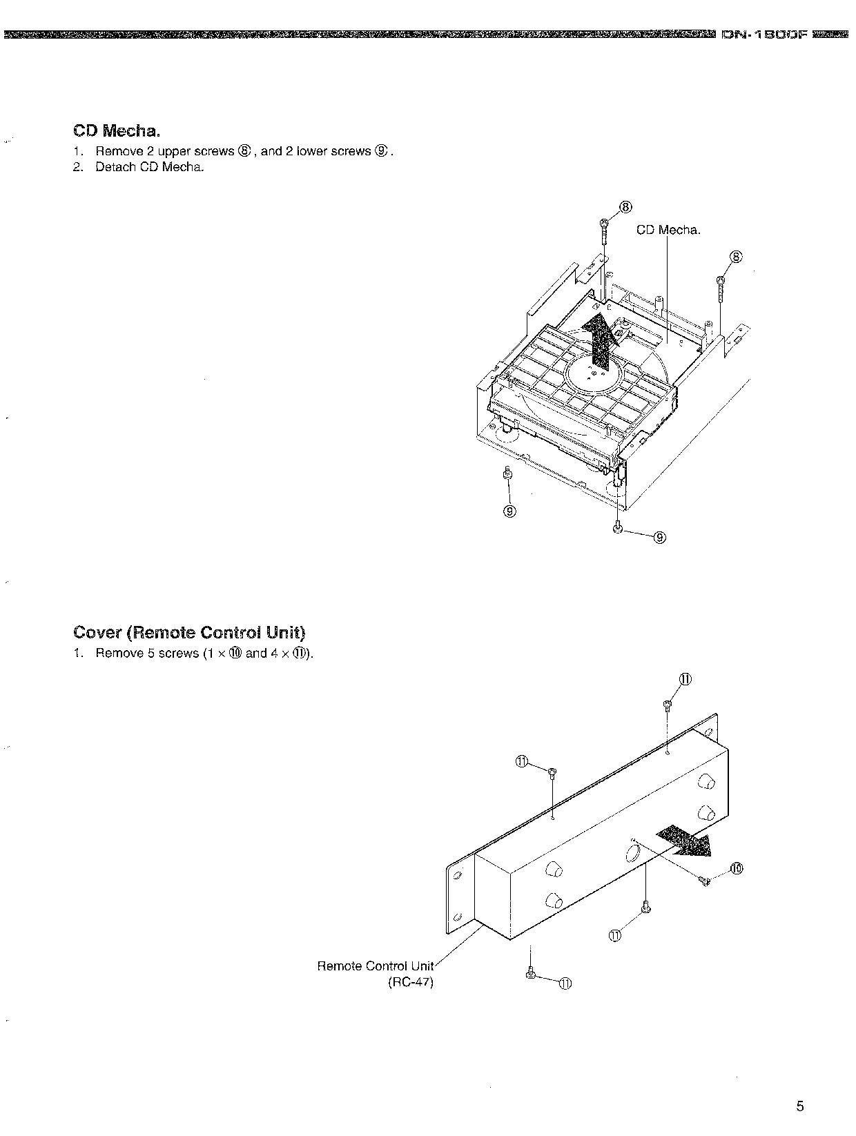 Denon DN-1800F Service Manual
