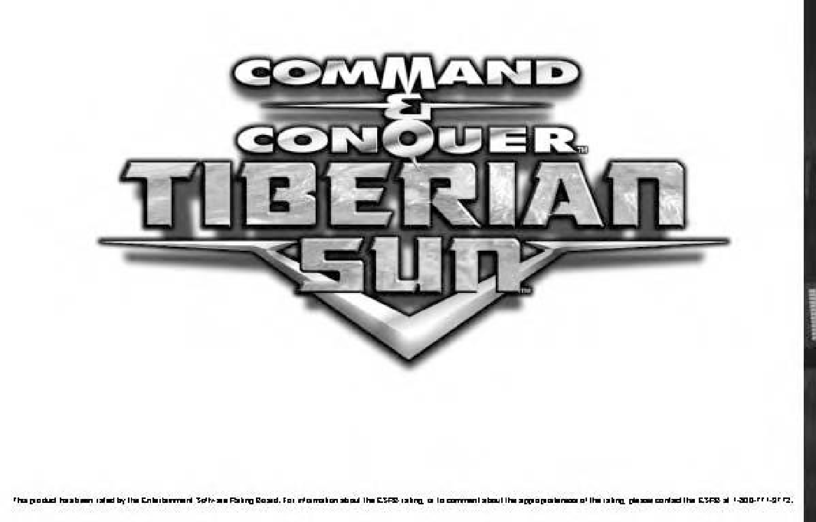 Games PC COMMAND AND CONQUER-TIBERIAN SUN User Manual