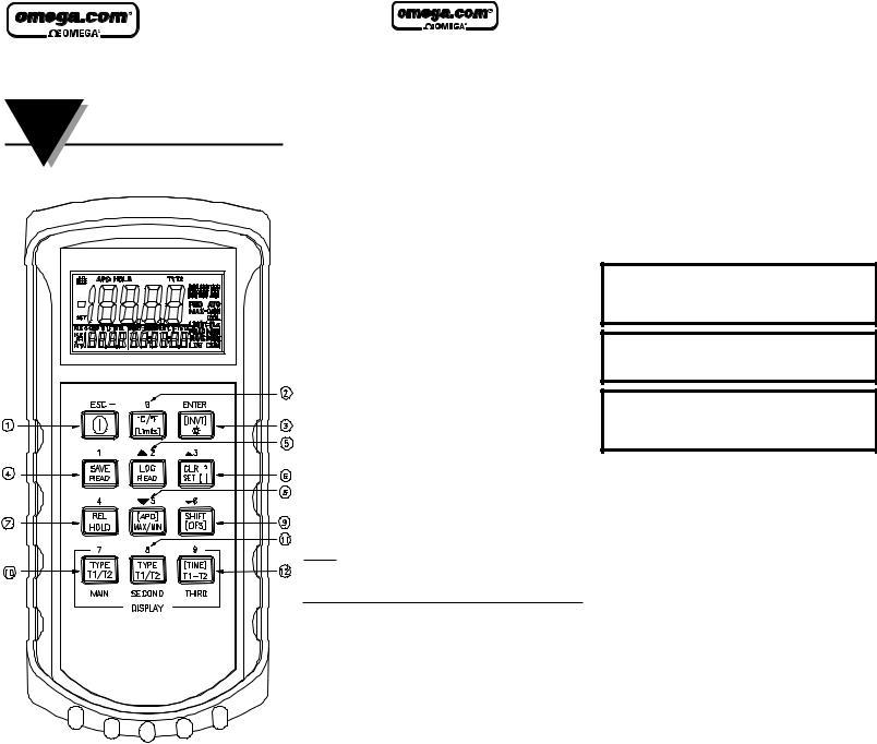 Omega HH506RA User Manual