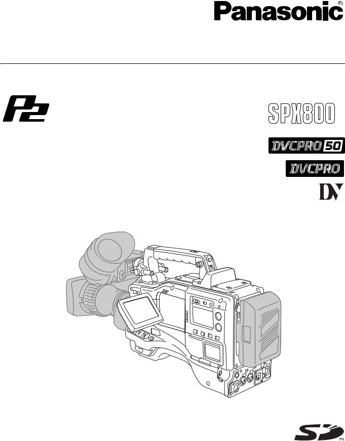 Panasonic AJ-SPX800P User Manual