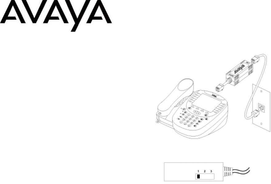 Avaya IP Telephone Power Adapter Installation Guide