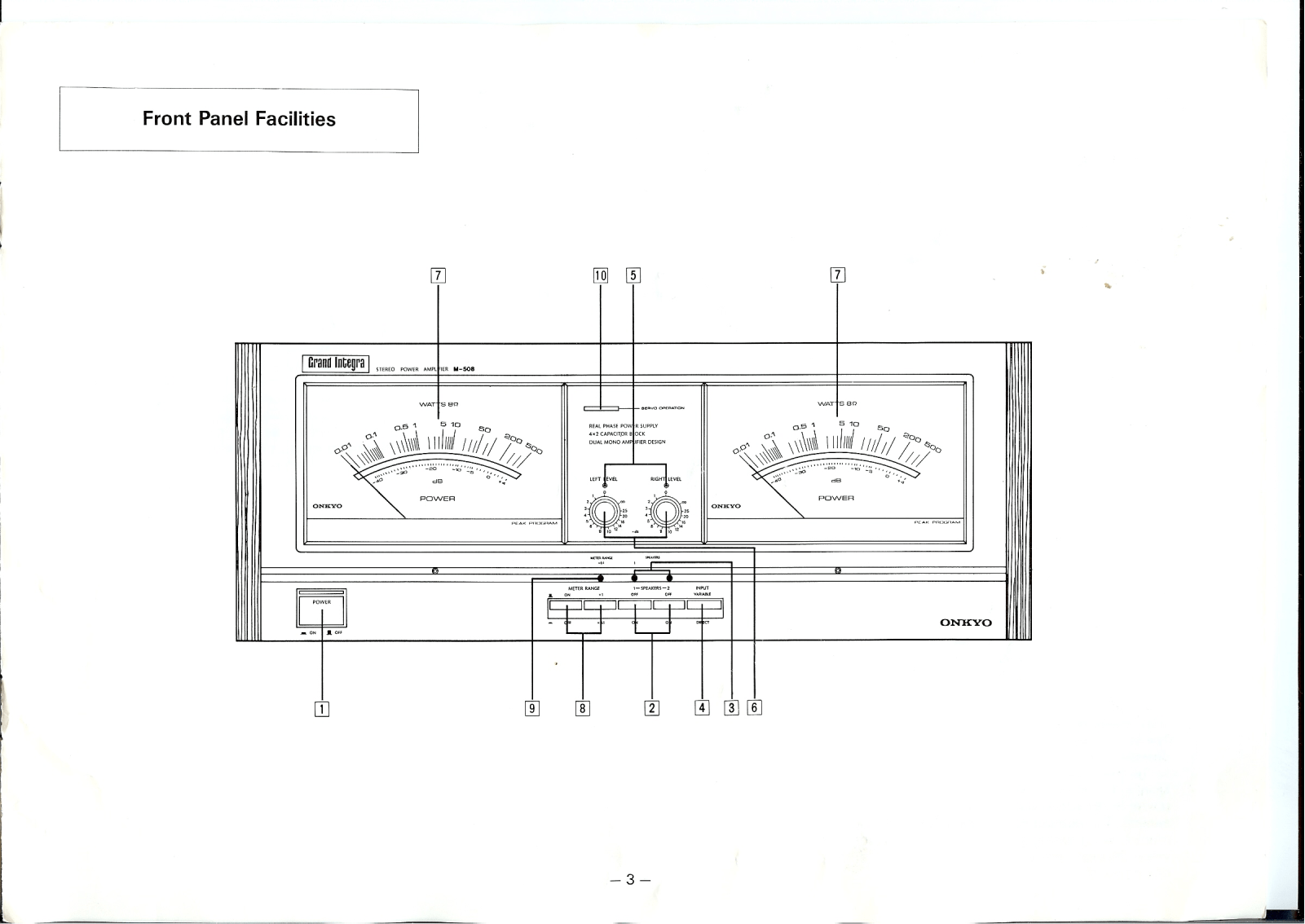 Onkyo M-508 Owners Manual