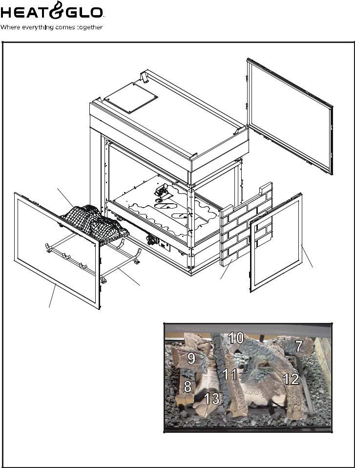 Heat & Glo LifeStyle LCOR-HV-IPI, ST-HV-IPI, PIER-HV-IPI