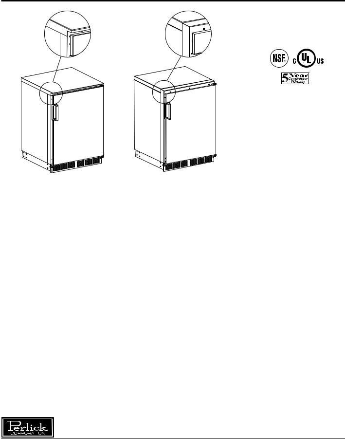 Perlick R24N, R24S, R24NB User Manual