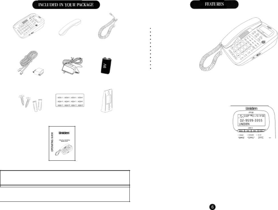 Uniden FP105 User Manual