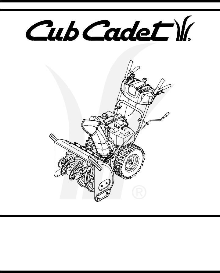 Cub Cadet 528 SWE User Manual