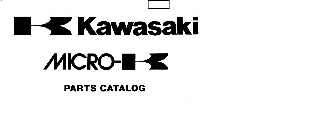 Kawasaki MICRO-K KX450 D8F User Manual