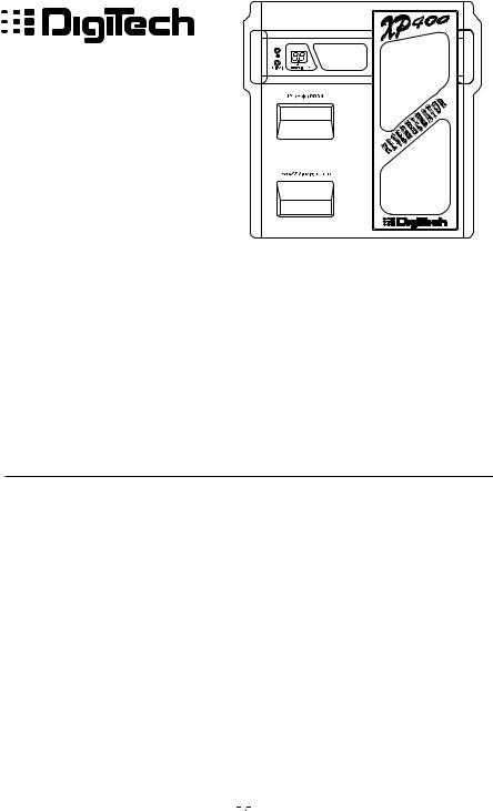 DigiTech XP400 User Manual
