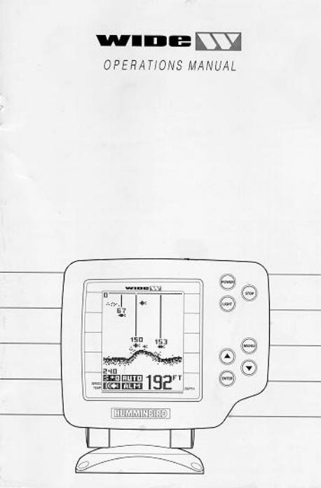 Humminbird Wide W User Manual