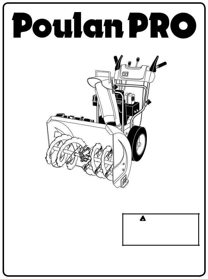 Poulan 421283 User Manual