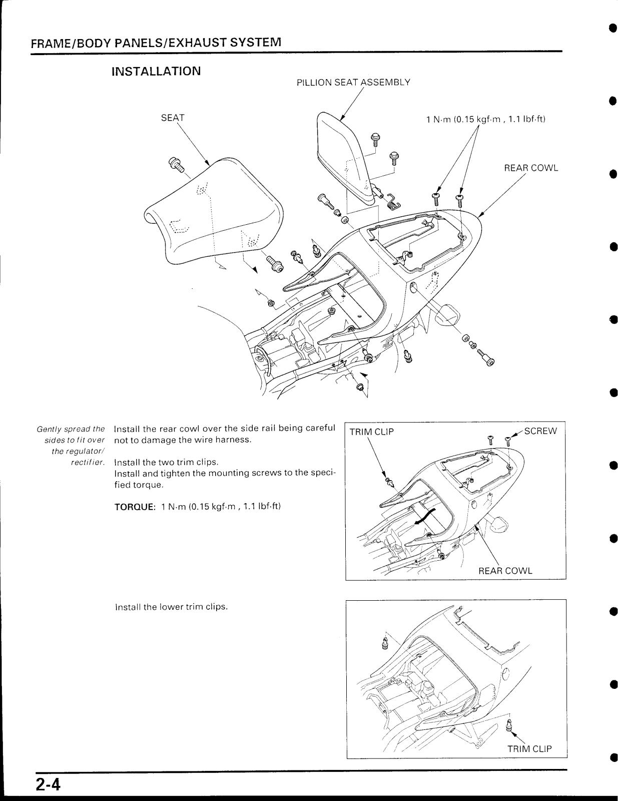Honda CBR929RR Service Manual