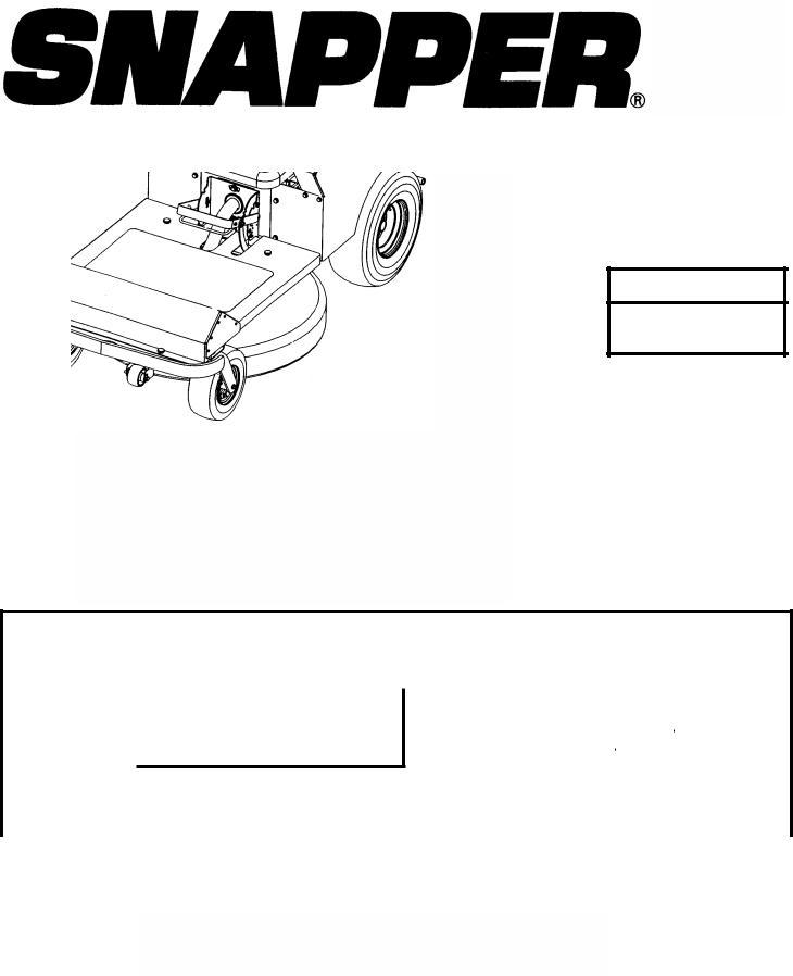 Snapper YZ145332BVE, YZ145382BVE User Manual