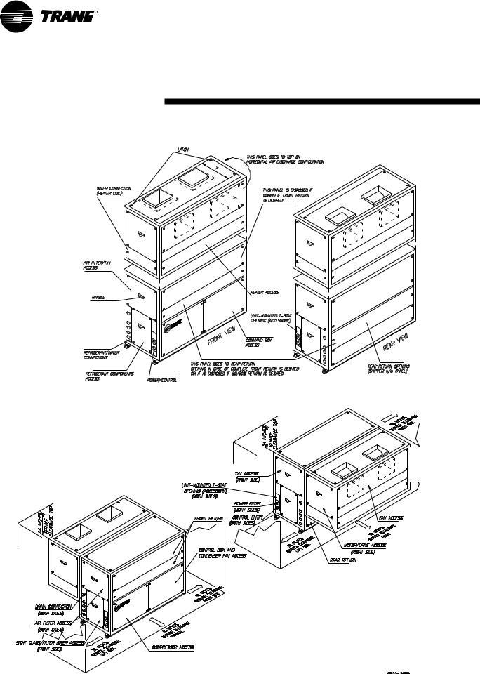 Trane SCWH, SCRH User Manual