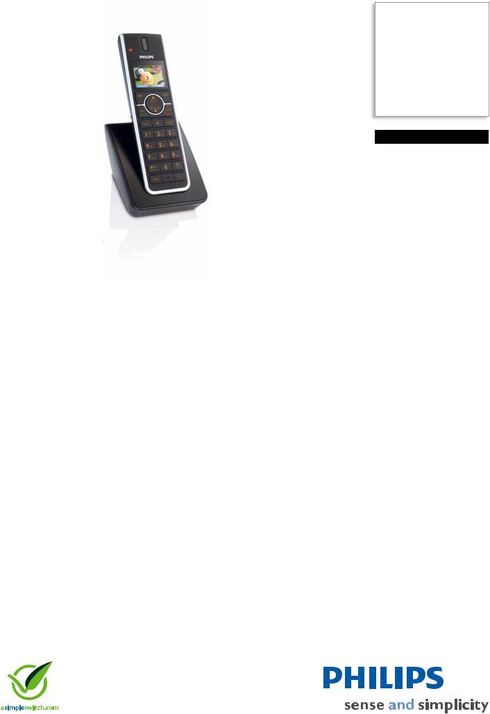 Philips Cordless telephone SE6580B User Manual