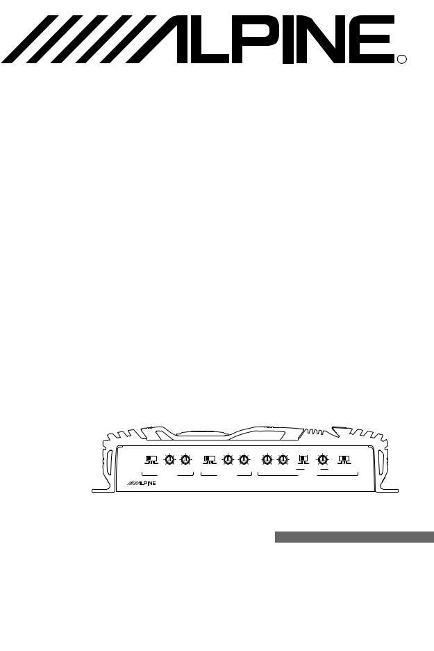 Alpine MRV-T407, MRV-F307 User Manual