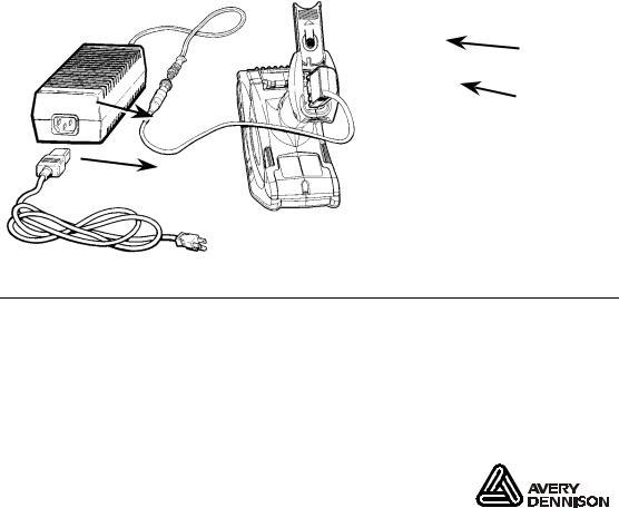 Paxar AC Adapter Monarch 6063TM User Manual