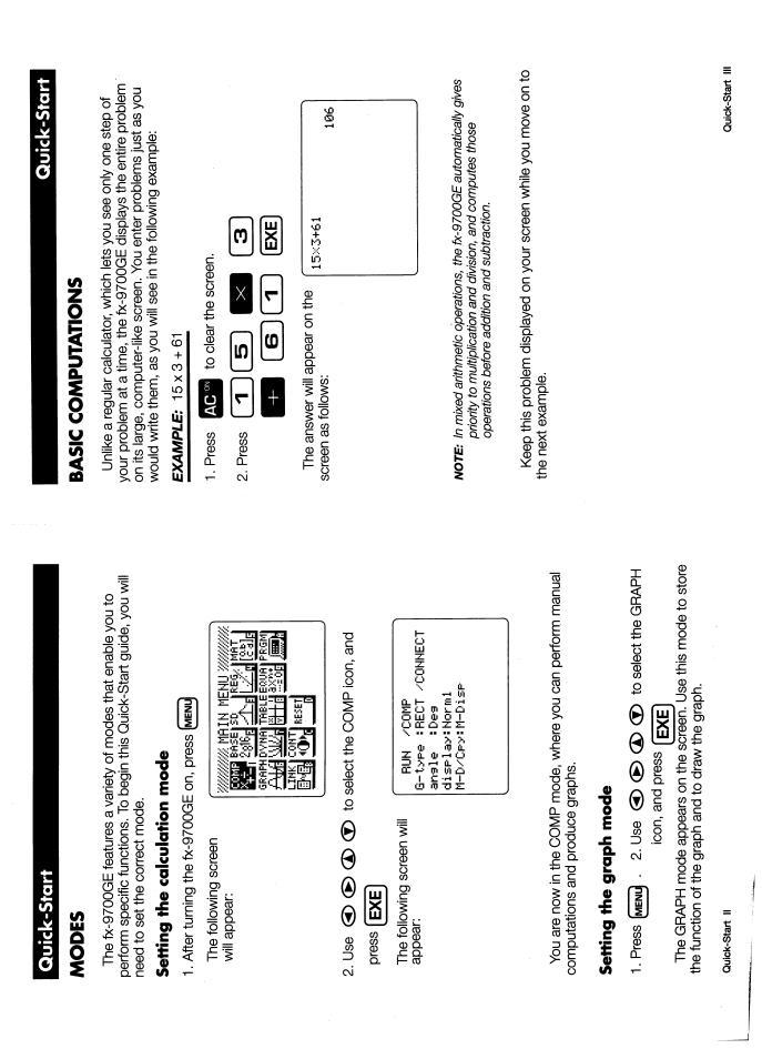 CASIO FX-9700GE User Manual