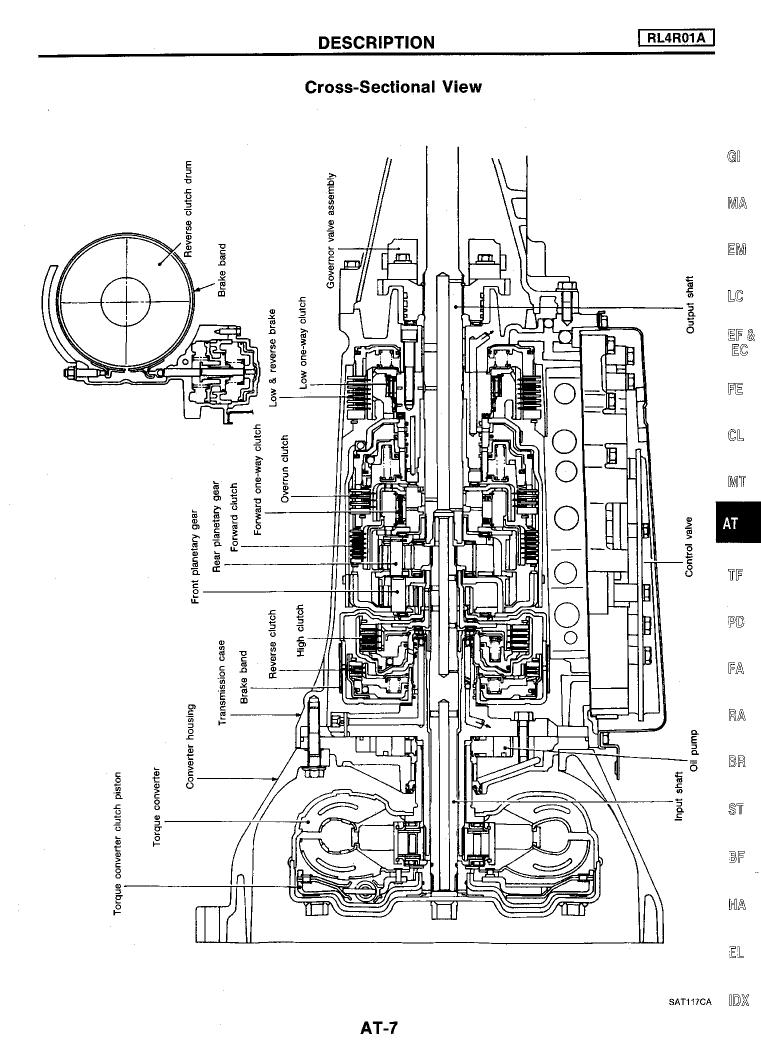 Nissan Pathfinder Automatic Transmission Section AT 1994