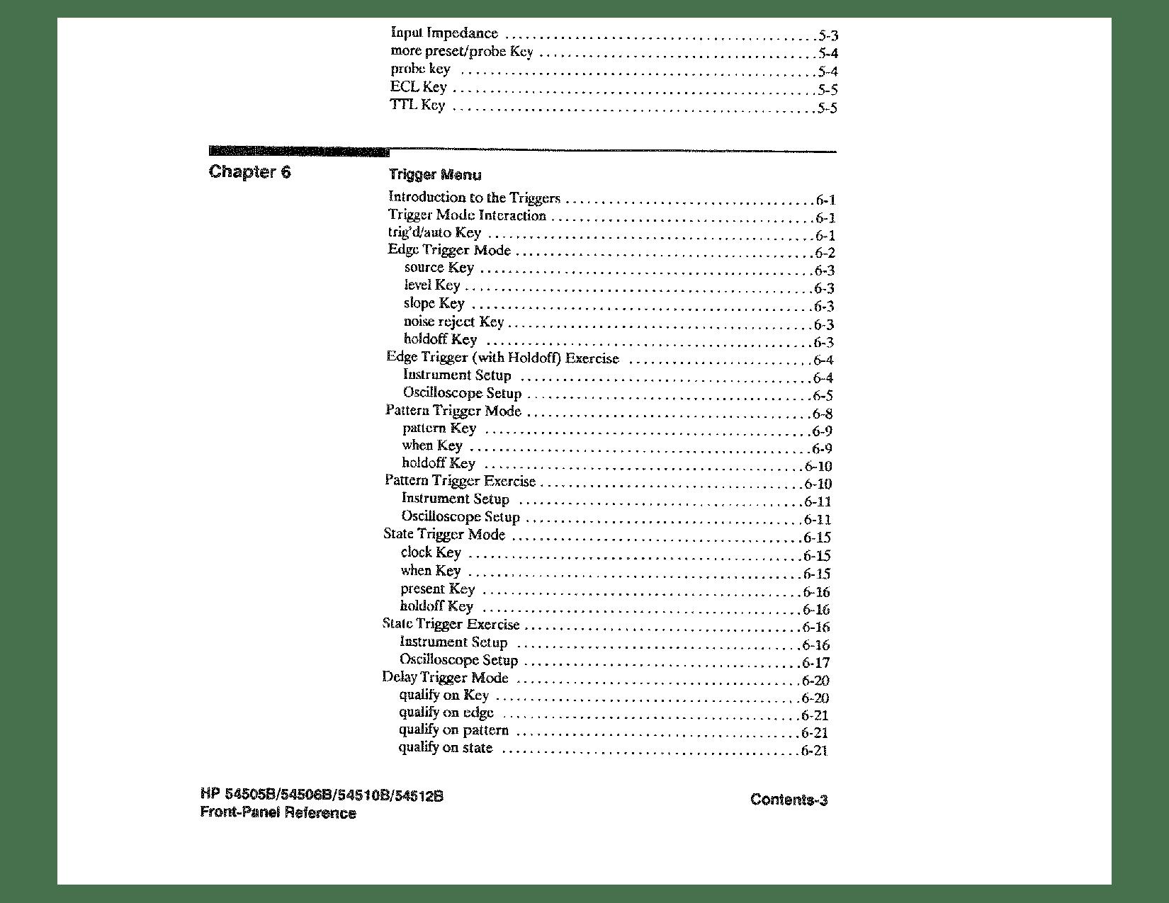 HP (Hewlett-Packard) 54510B, 54505B, 54512B, 54506B User