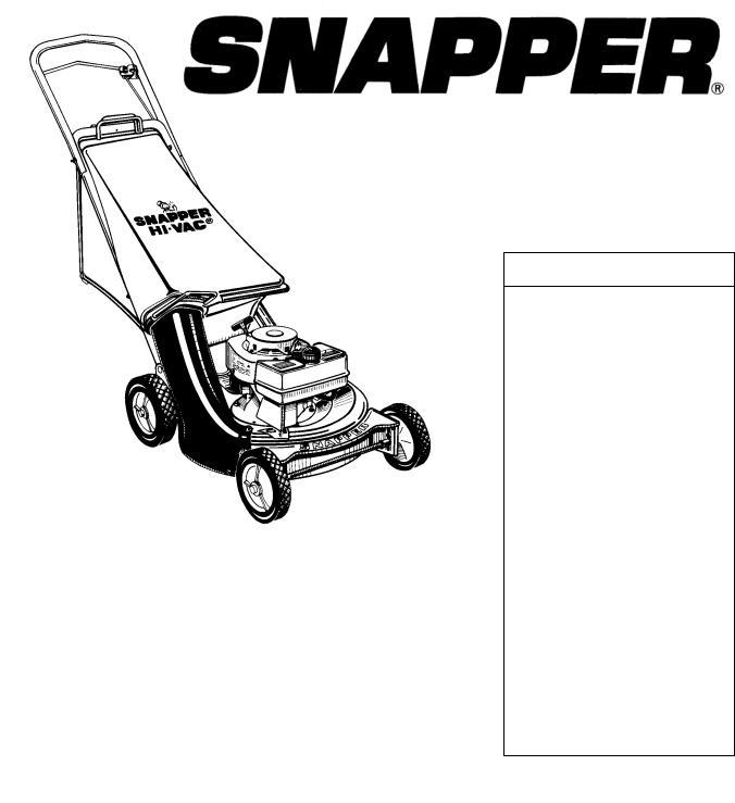 Snapper 19300-2, 19301D, 19303, 19303B, 19300, 19303D