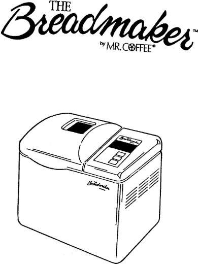 Mr. Coffee BMR 200 User Manual