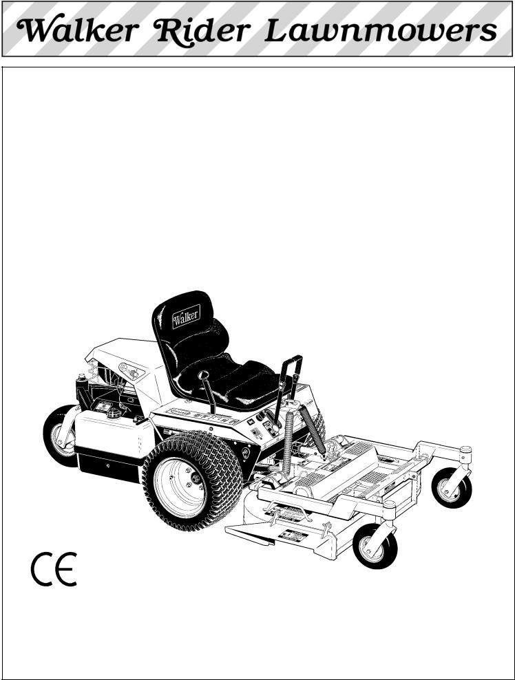 Briggs & Stratton MB (18 HP) User Manual