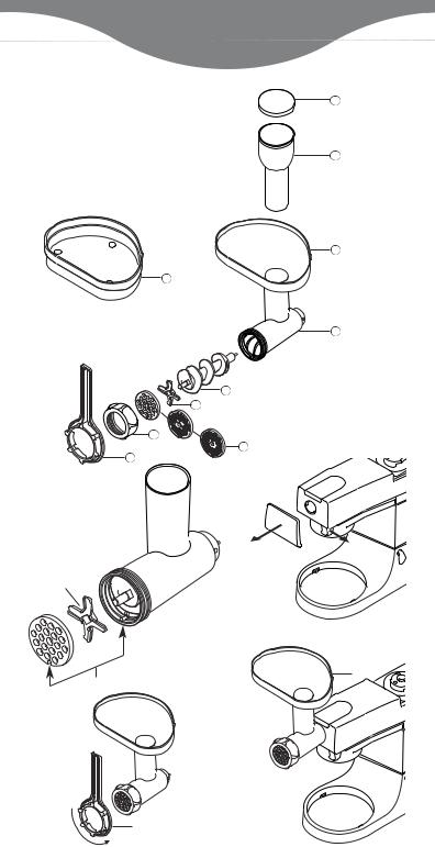 Kenwood AT950A-9744ISS3 A950 MINCER ATTACH MULTI User Manual