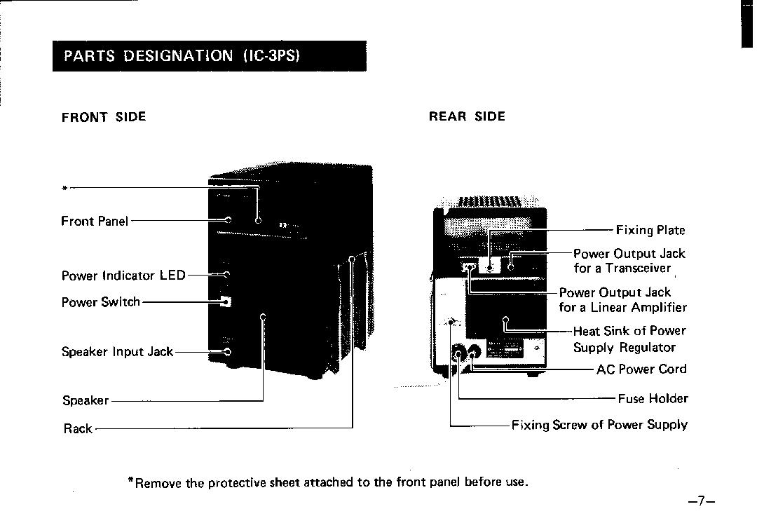 Icom IC-20L, IC-50L, IC-30L, IC-3PS User Manual