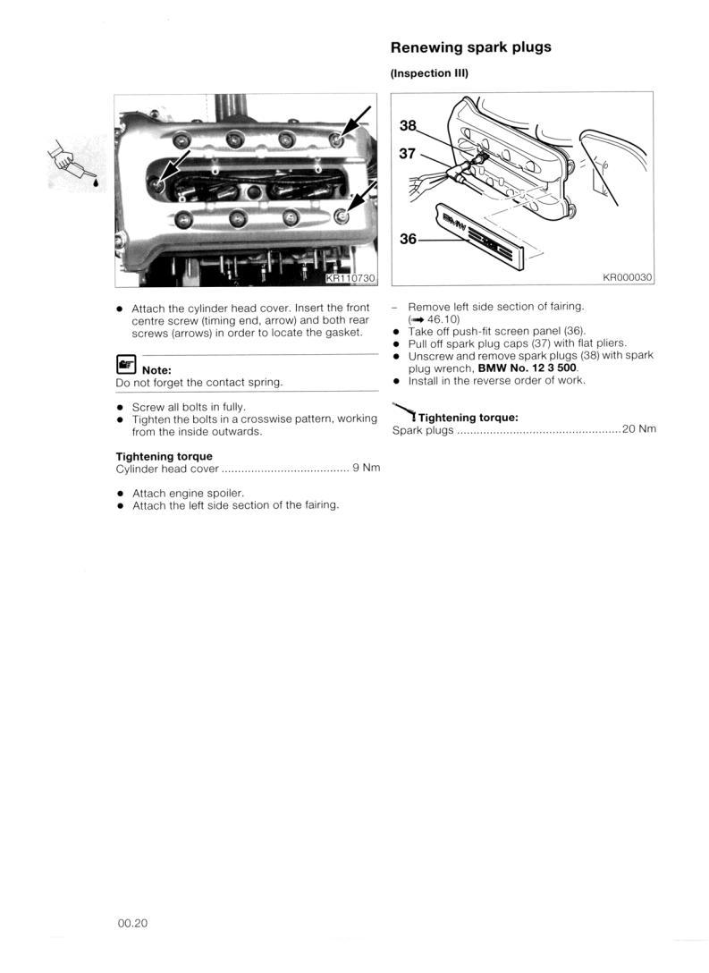 BMW K1200RS Service Manual