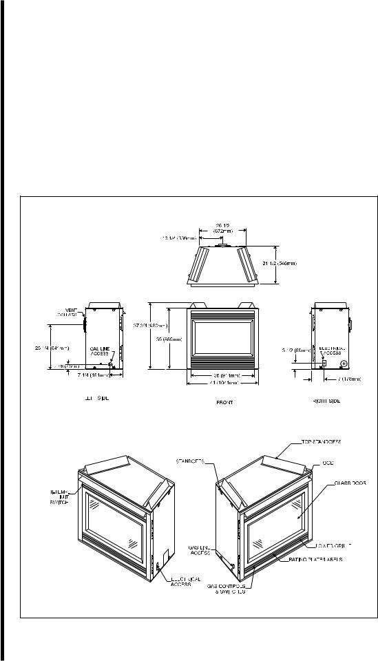 Heat & Glo LifeStyle 6000 XLS, 6000 GDVFL User Manual