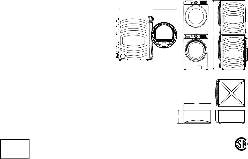 GE GFD65GSSNWW, GFD65GSPNSN Specifications