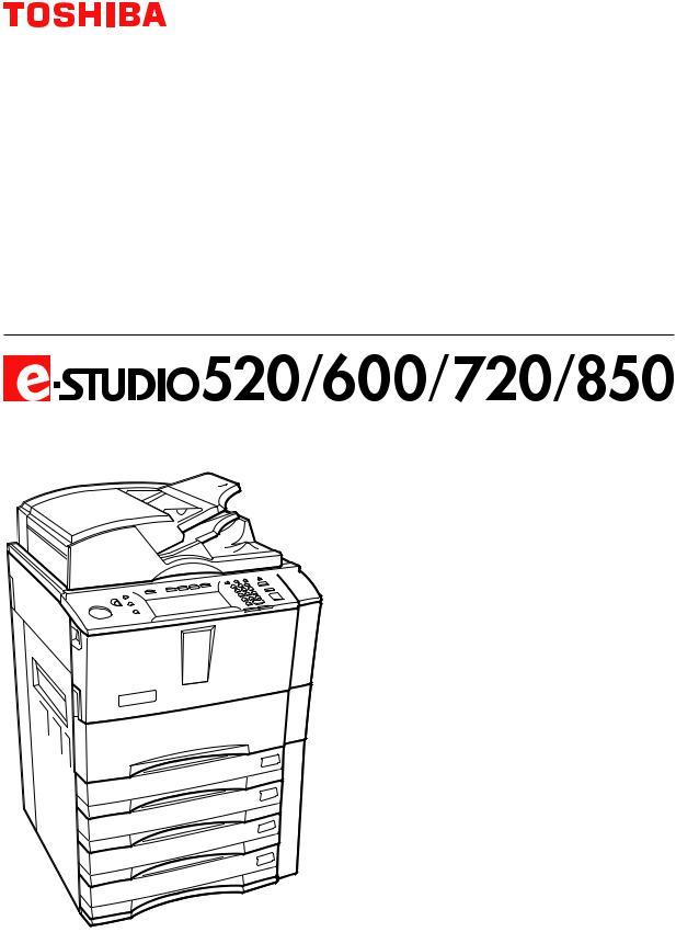 Toshiba E-STUDIO 850, E-STUDIO 720 User Manual 2