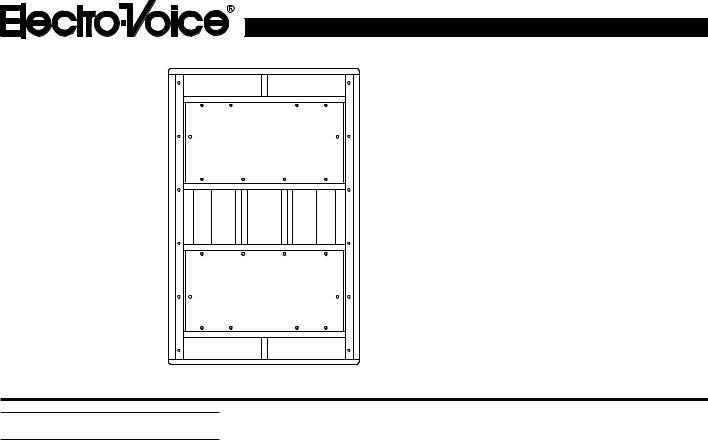 Electro-Voice XI-2181, 2181F User Manual