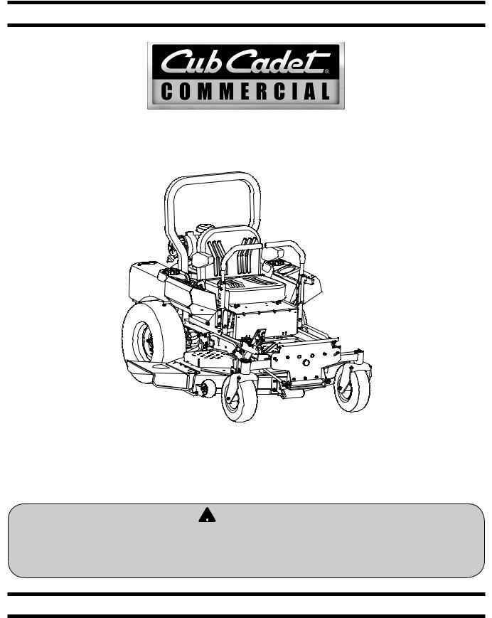 Cub cadet Tank 60 User Manual