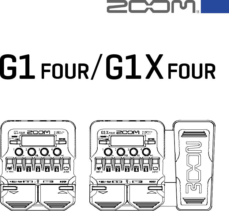 Zoom G1 Four, G1X Four User Manual