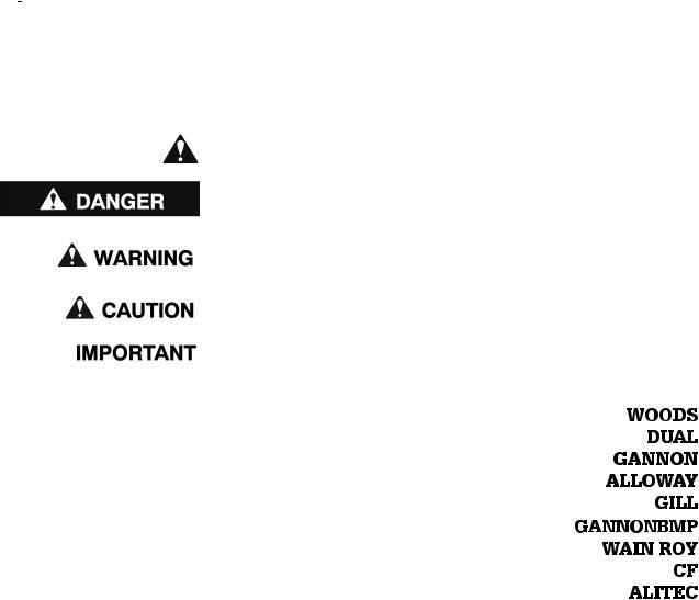 Woods Equipment BH9000 User Manual