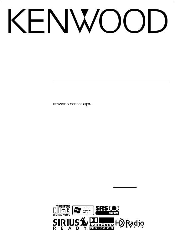 Kenwood eXcelon KDC-X979, eXcelon KDC-X879 User Manual