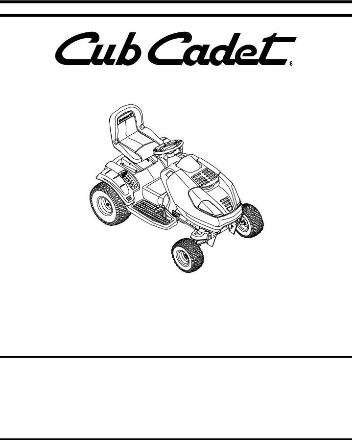 Cub Cadet i1046, i1050, i1050 User Manual