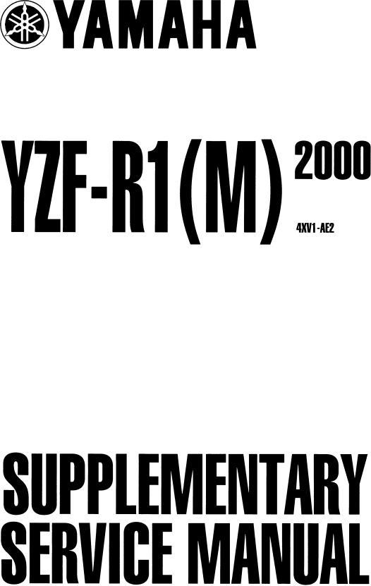 Yamaha YZF-R1(M) 2000, YZF-R1 (2000) Service Manual