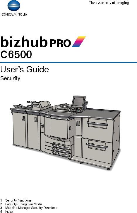 Konica Minolta bizhub PRO C6500 User Manual