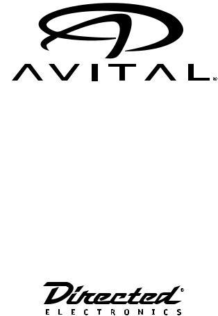 Avital 4113 User Manual