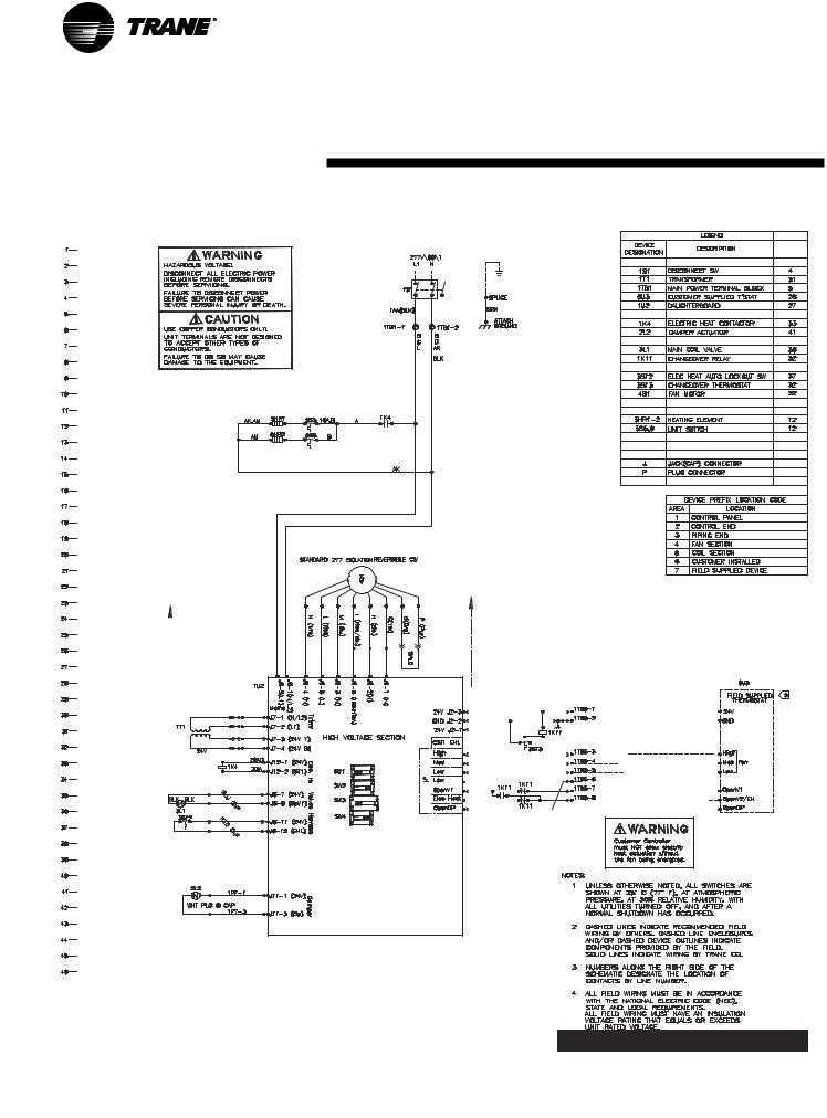 Trane UNT-SVX07A-EN, UniTrane Fan-Coil & Force Flo Air