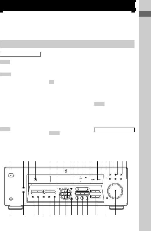 Sony RM-U306, STR-DE585 User Manual